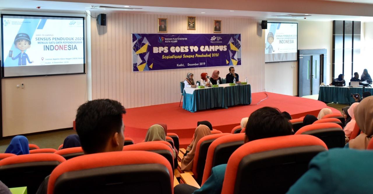 BPS Gandeng IAIN Kediri, Sosialisasikan Sensus Penduduk 2020