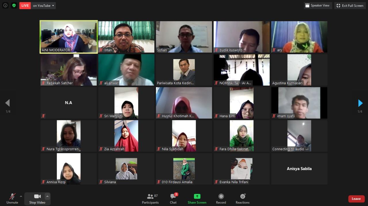 Protabinar TBI IAIN Kediri, Hadirkan Narasumber Internasional