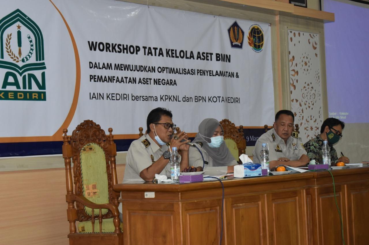 Mewujudkan Optimalisasi Penyelamatan dan Pemanfaatan Aset Negara, IAIN Kediri Adakan Workshop dengan BPN dan KPKNL