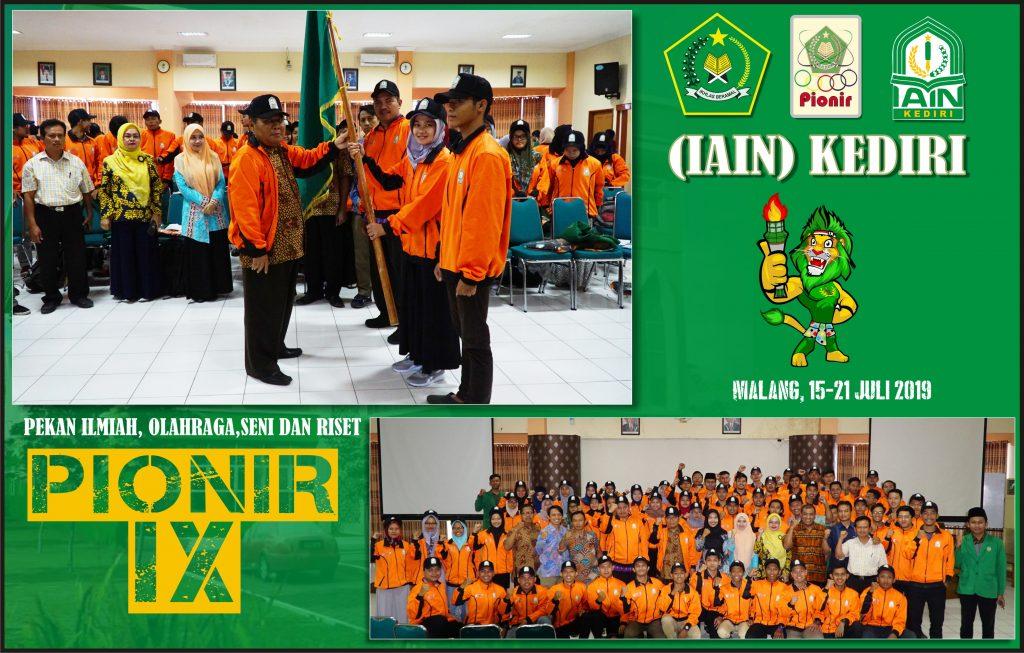 Pasang Target Juara Umum, IAIN Kediri Lepas 125 Peserta Pionir Ke IX di Malang