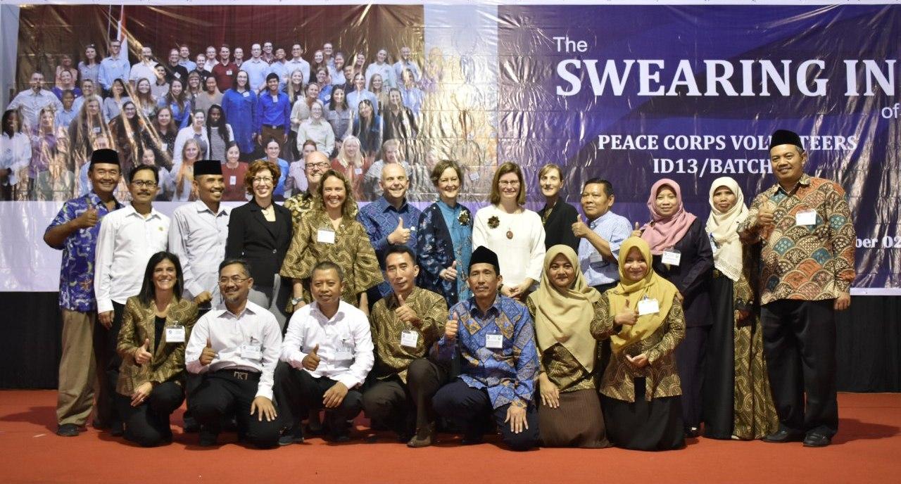 Pesan Khusus Dubes AS Saat Hadiri Swearing In Of Peace Corps Volunteers Di IAIN Kediri