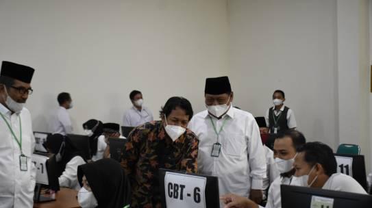 Dipantau Langsung Kasubdit Sarpras Pendis, Pelaksanaan UM-PTKIN IAIN Kediri Berjalan Lancar