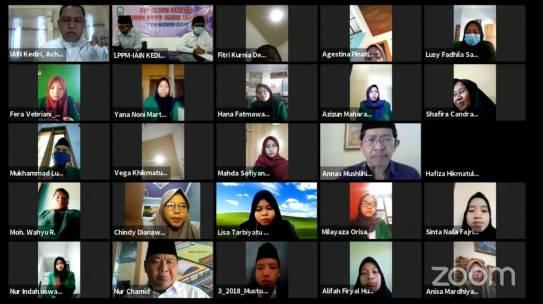 Lepas 2528 Peserta KKN-DR Secara Daring; Rektor IAIN Kediri Dorong Semangat Mengabdi