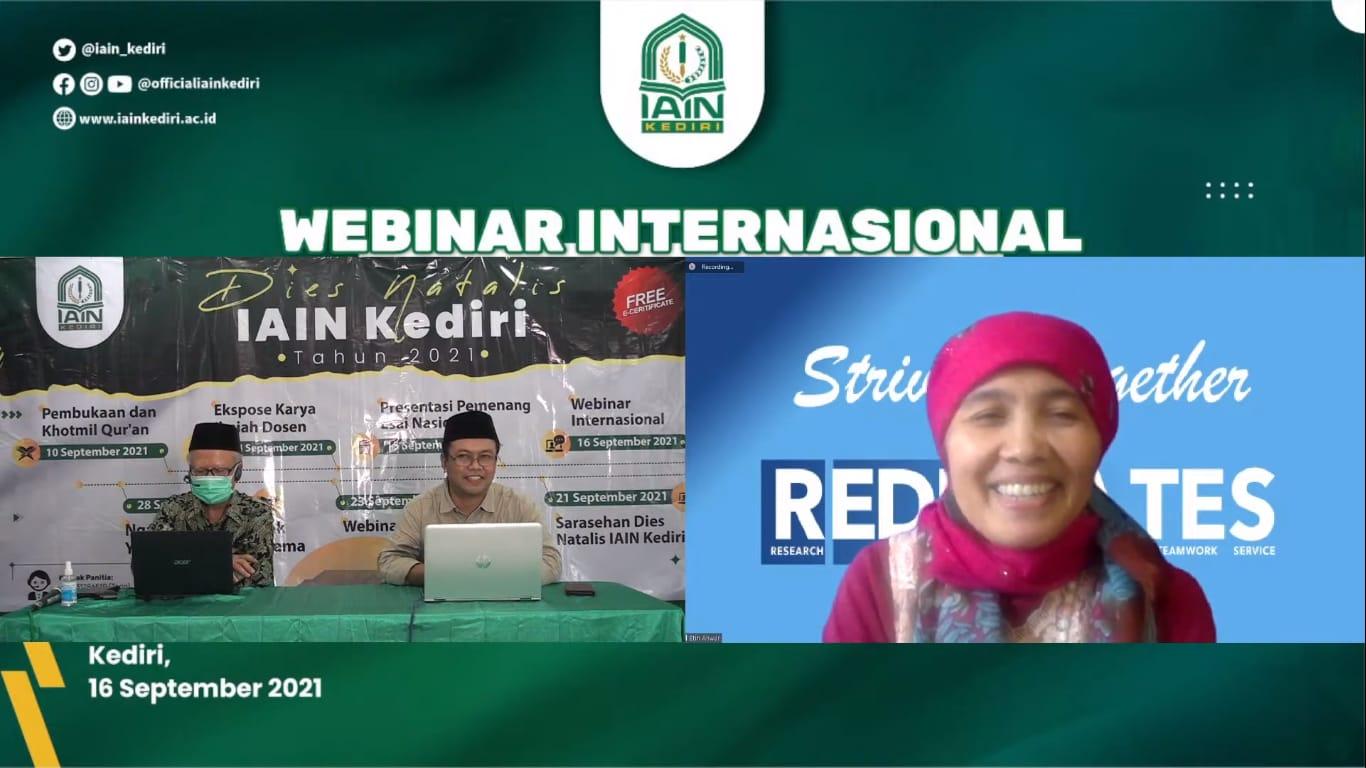 Guru Besar Amerika dalam Webinar IAIN Kediri; Moderasi di Indonesia untuk Dunia